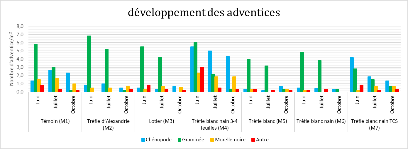 Developpement des adventices